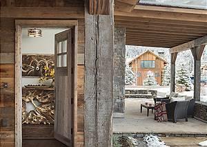 Front Door - Four Pines 102 - Teton Village Luxury Cabin Rental
