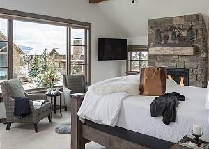 Upper Level Master Bedroom - Four Pines 102 - Teton Village