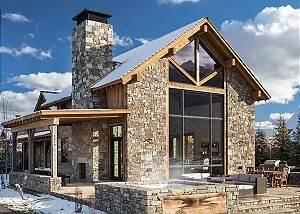 Back Exterior - Four Pines 102 - Teton Village Luxury Cabin Rent
