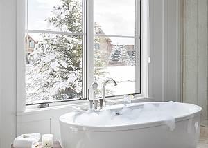 Main Level Master Tub - Four Pines 102 - Teton Village Luxury