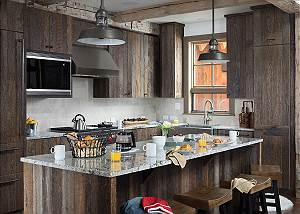 Kitchen - Four Pines 102 - Teton Village Luxury Cabin Rental