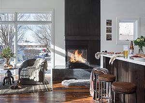 Fireplace - Pied a Terre on Pearl - Jackson Hole - Luxury Rental