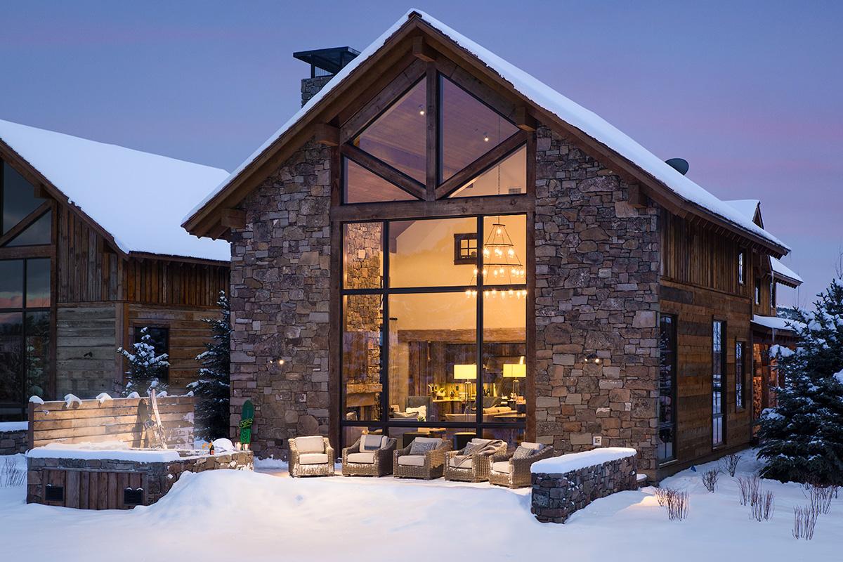 Teton village luxury vacation rental fish creek lodge 08 for Teton cabin rentals