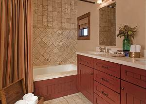 Guest Bath 2 - Shooting Star Cabin - Luxury Villa - Teton Villag