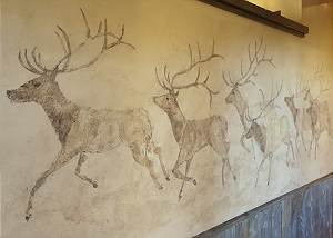 Custom Wildlife Artwork - Shooting Star Cabin - Teton Village