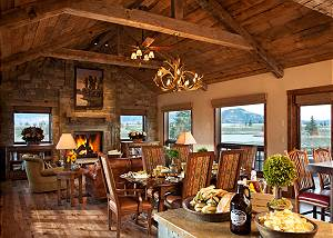 Dining Area - Shooting Star Cabin - Luxury Villa - Teton Village