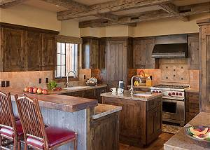 Kitchen - Shooting Star Cabin - Luxury Villa Rental - Teton Vill