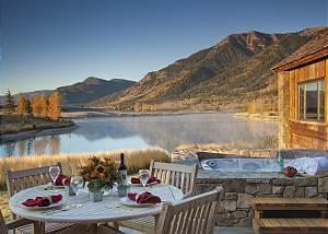 Patio - Shooting Star Cabin - Luxury Rental - Teton Village, WY