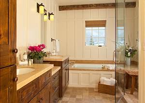 Master Bath- Shooting Star Cabin - Luxury Villa - Teton Village