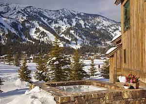 Back Patio - Shooting Star Cabin - Luxury Villa - Teton Village,