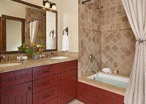 Guest Bath 1 - Shooting Star Cabin - Luxury Villa - Teton Villag