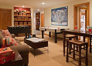 Game Room - Catamount - Teton Village Luxury Vacation Cabin
