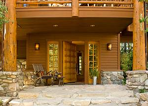 Front Patio - Catamount - Teton Village Luxury Vacation Cabin