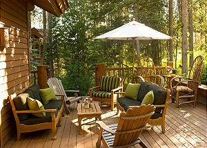 Back Patio - Catamount - Teton Village Luxury Vacation Cabin