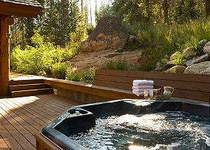 Back Deck - Catamount - Teton Village Luxury Vacation Villa