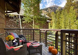 Deck - Granite Ridge Lodge - Luxury Teton Village Vacation Cabin