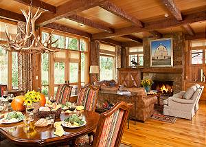 Dining - Granite Ridge Lodge - Luxury Teton Village Cabin