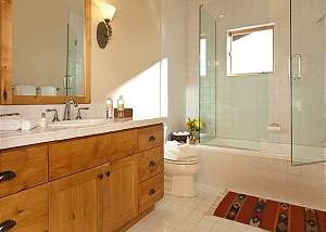 Guest Bath 3 - Granite Ridge Lodge - Luxury Teton Village Cabin