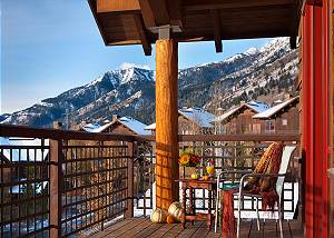 Front Balcony - Granite Ridge Lodge - Luxury Teton Village Cabin