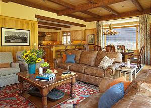 Great Room - Granite Ridge Lodge - Teton Village Luxury Cabin