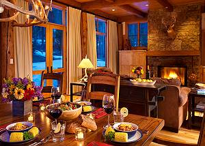 Dining Area - Granite Ridge Lodge - Luxury Teton Village Cabin