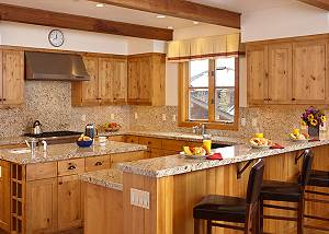 Kitchen - Granite Ridge Lodge - Luxury Teton Village Cabin