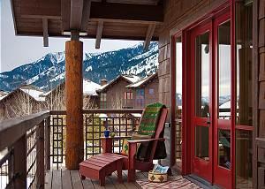 Front Balcony - Granite Ridge Lodge - Luxury Teton Village Cabin