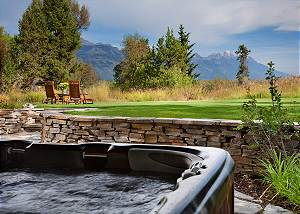 Back Patio - Riversong Lodge - Luxury  Rental Jackson Hole, WY