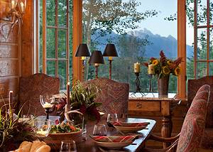 Dining - Riversong Lodge - Luxury  Rental Jackson Hole, WY
