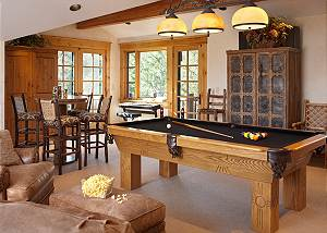 Game Room - Riversong Lodge -Luxury  Rental Jackson Hole, WY
