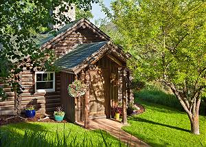 Front Entrance - The Cabin - Jackson Hole Luxury Cabin Rental