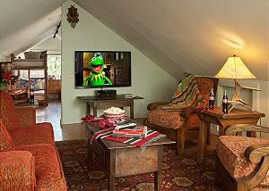 Media Room - The Cabin - Jackson Hole Luxury Cabin Rental