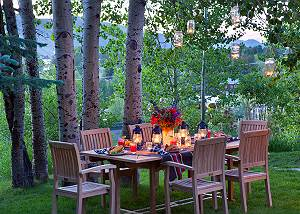 Outdoor Dining - The Cabin - Jackson Hole Luxury Cabin Rental