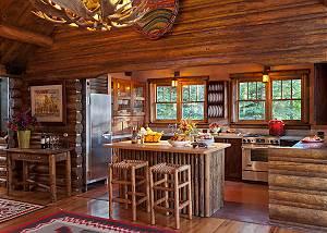 Kitchen - The Cabin - Jackson Hole Luxury Cabin Rental