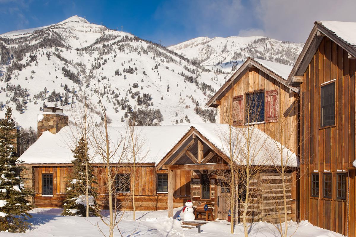 Teton village luxury cabin rental shooting star cabin 09 for Teton cabin rentals