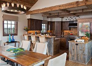 Kitchen - Shooting Star Cabin - Luxury Villa Teton Village