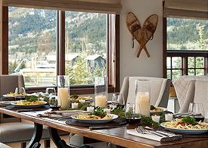 Dining Area - Shooting Star Cabin - Luxury Villa Teton Village,