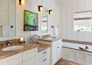 Master Bath - Shooting Star Cabin - Luxury Villa - Teton Village