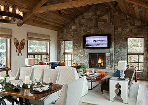 Great Room - Shooting Star Cabin - Luxury Villa Teton Village