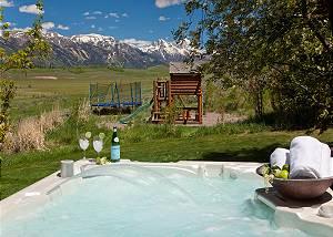 Back Deck - Home on the Range - Jackson Hole Luxury Cabin