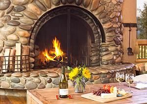 Fireplace - Home on the Range - Jackson Hole Luxury Cabin