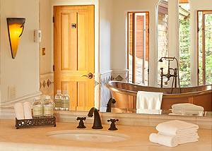 Master Bath- Home on the Range - Jackson Hole Luxury Cabin
