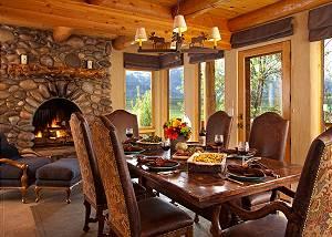 Dining Area - Home on the Range - Jackson Hole Luxury Cabin