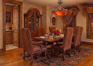 Dining Area - Shoshone Lodge - Luxury Villa - Jackson Hole, WY