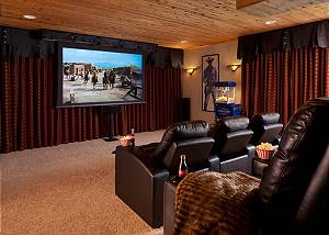 Theater - Shoshone Lodge - Luxury Villa - Jackson Hole, WY