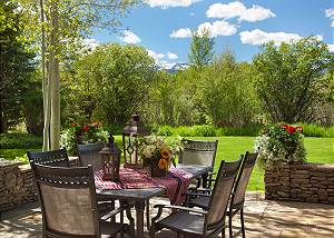 Patio - Shoshone Lodge - Luxury Villa - Jackson Hole, WY
