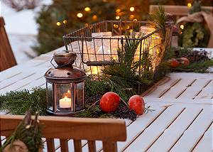 Outdoor Dining - Granite Ridge Lodge - Luxury Teton Village Cabi