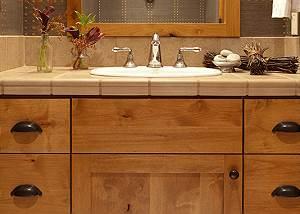 Powder Room - Granite Ridge Lodge - Luxury Teton Village Cabin
