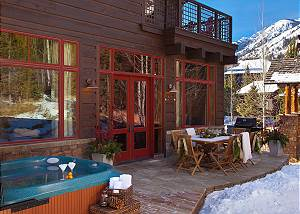 Back Deck - Granite Ridge Lodge - Luxury Teton Village Cabin