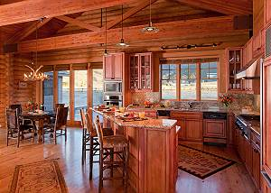 Kitchen - Elk Refuge -  Jackson Hole Luxury Vacation Cabin